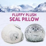 Fluffy Plush Seal Pillow