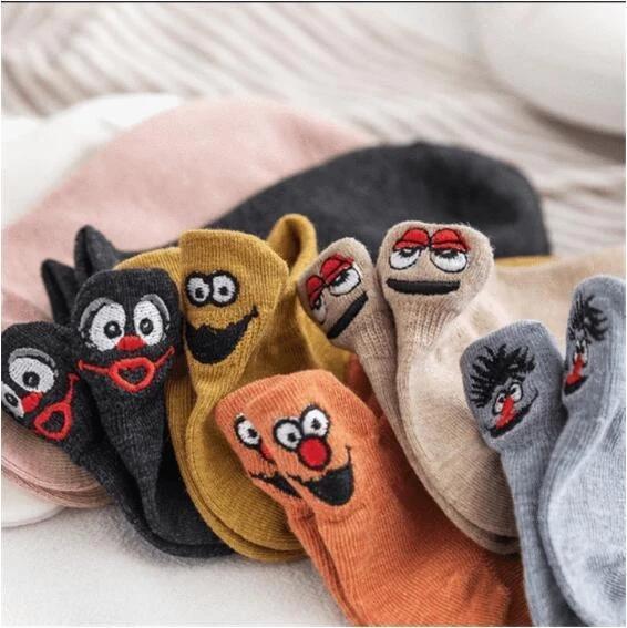 Embroidered Cartoon Women Socks