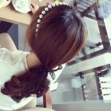 Elegant Pearl Lace Streamer Headband
