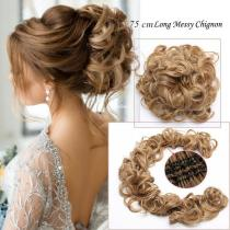 75 cm Long Messy Curly Chignon