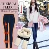 Thermal Fleece Denim Jeggings