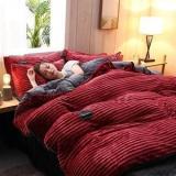 3/4 Pcs AB Sided Thicken Corduroy Velvet Winter Bedding Set