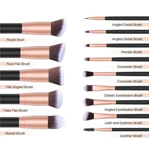 Premium Makeup Brushes 14 PCS With Storage Bag