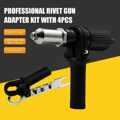 Professional Rivet Gun Adapter Kit
