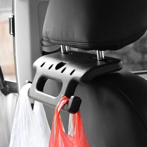 2-in-1 Car Seat Hand Grip Plus Hooks