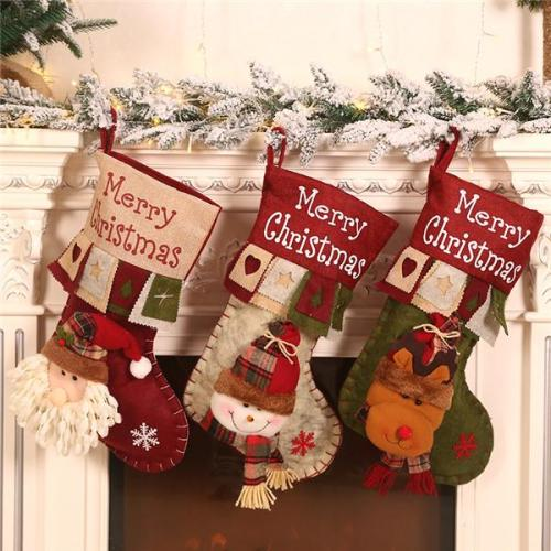 Large Christmas Stocking Decoration