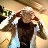 Studded Spikes Full Face Jewel Margiela Mask