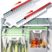 Refrigerator Slide-out Zip Food Storage Bags Holder Organizer