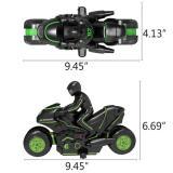 360° Spinning High-Speed Stunt Motorcycle