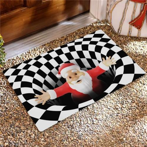 Santa Vortex Illusion Doormat