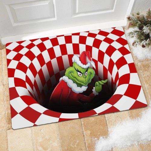 Grinch Vortex Illusion Doormat