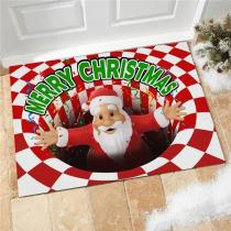 Merry Christmas Illusion Doormat