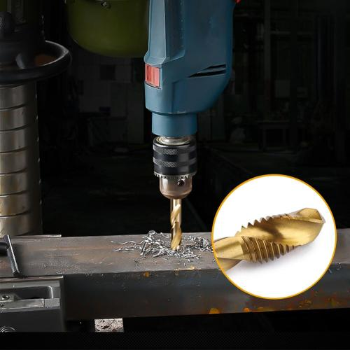 6 Pcs M3-M10 Hex Shank Thread Tap Drill Bits