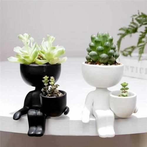 Little People Ceramic Flower Pot