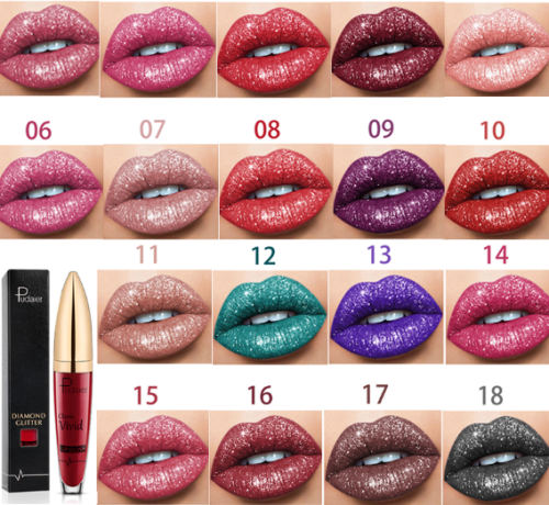 🎉Free Shipping😘18 Color Diamond Shiny Long Lasting Lipstick