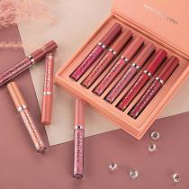 6Pcs/set Matte Lip Gloss Set Liquid Lipstick
