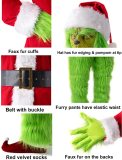 Adult 7PCS Costume Christmas Deluxe Furry Suit