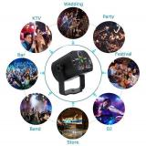 RGB DJ Disco Stage Laser Light Sound Activated Led Projector Party Lights