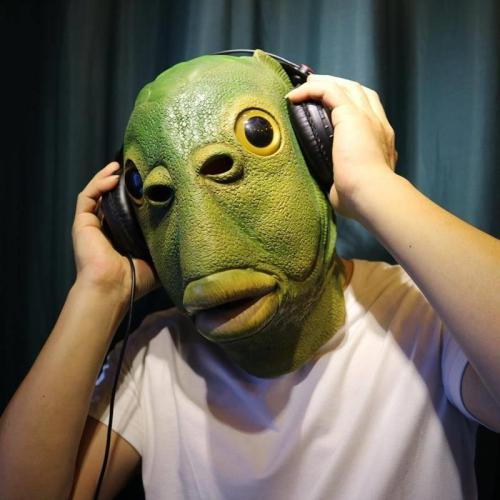 Newest Green Fish Head Mask