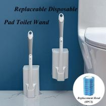 Replaceable Disposable Pad Toilet Clean Brush