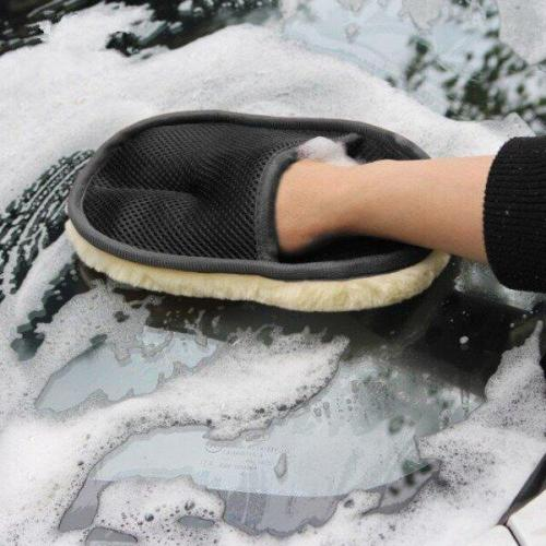 Car Soft Care Washing Polishing Cleaning Gloves(3PCS)