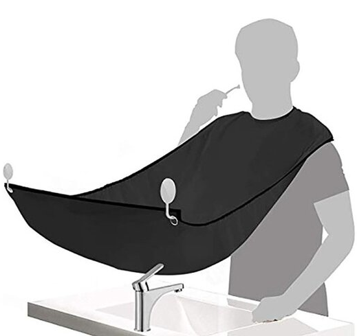 Beard Care Clean Gather Cloth Beard Apron Shaving Hair Catcher With Two Suction Cups