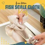 Wave Pattern Fish Scale Cloth Rag