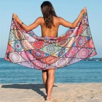 Quick-drying double-sided velvet beach towel