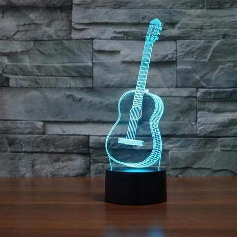 GUITAR 3D ILLUSION LAMP
