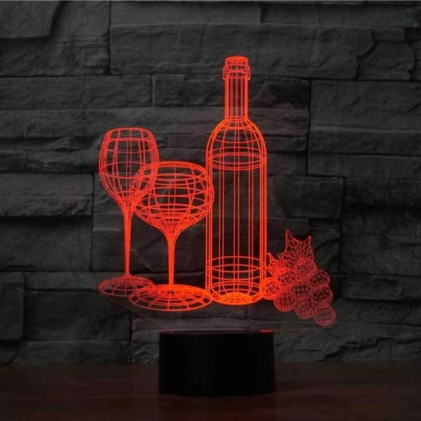WINE 3D ILLUSION LAMP