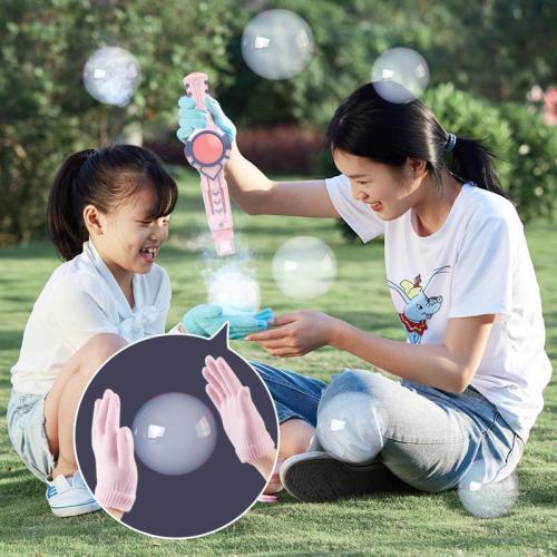 Magic smoke bubble machine