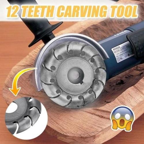 12-Teeth Wood Carving Disc