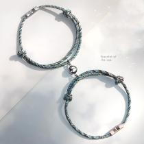 Magnetic personalized custom woven couple bracelet(Personalized)