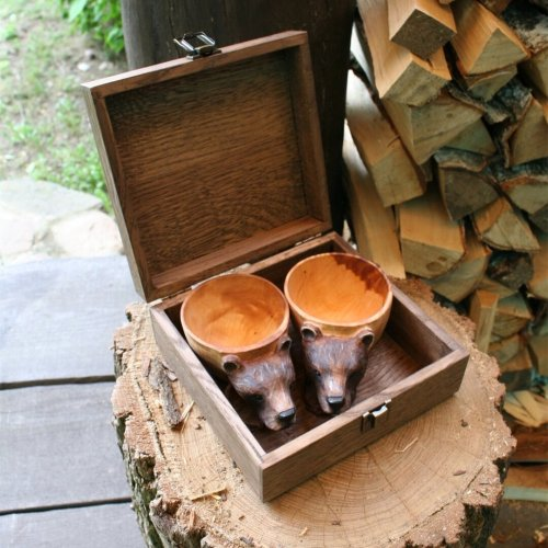 Kuksa Hand Carved Wooden Mug