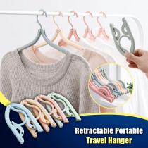 Retractable Portable Travel Hangers-10pcs