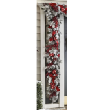 The Cordless Prelit Red And White Holiday Trim