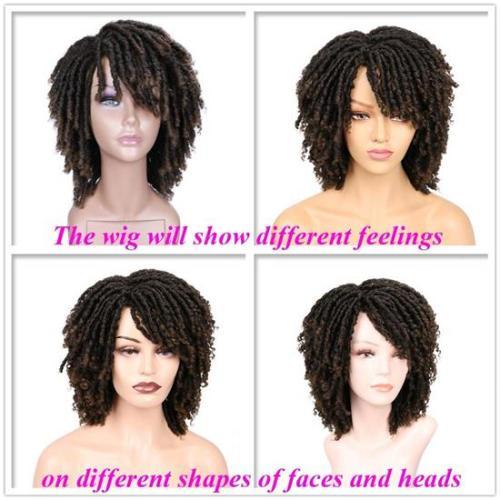Summer Sale High Quality Dreadlock Short Twist Curly Popular Wigs