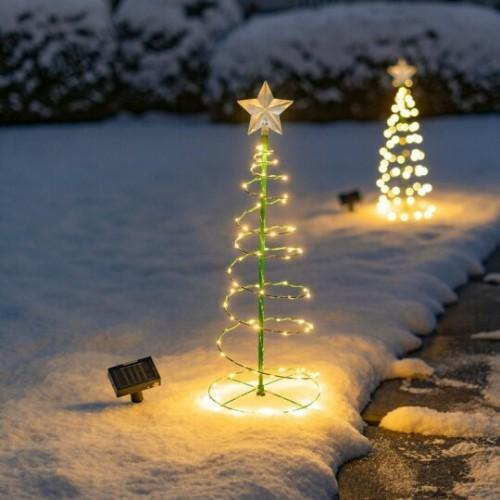 Solar Metal LED Christmas Tree