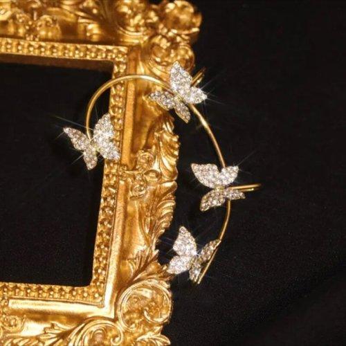 (🎅Early Christmas Sale )Zircon Butterfly Earrings