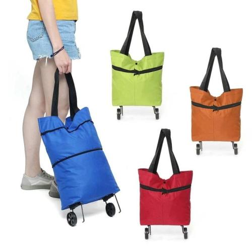 Foldable Shopping Cart Bag-can be shopping cart and hold 40 kilograms of things