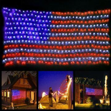 Large Usa Flag Outdoor Lights