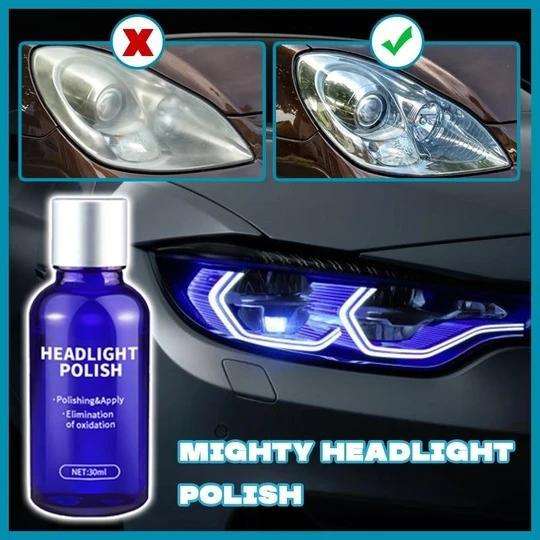 Headlight Cleaning Polish - protect your car from aging, fading, weather, sunlight erosion, and light beam