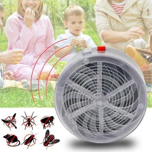 Solar Powered Bug Zapper - no need for wiring or battery costs