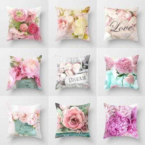Rustic Rose Series Pillow case Car Sofa Hug Pillowcase for Home Decorations