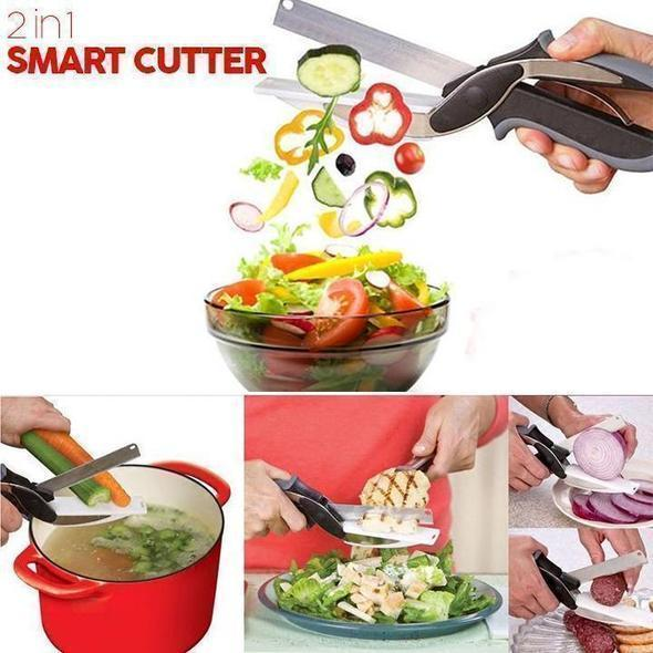 2 in 1 Smart Cutter-effortlessly cut through food fast