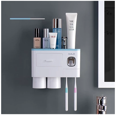Integrated toothbrush holder - drainage does not breed scale, does not fear humidity