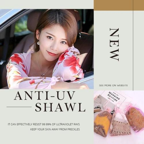 Ultralight Breathable Sunproof Sleeve Shawl-effectively resist 99.99% of ultraviolet rays