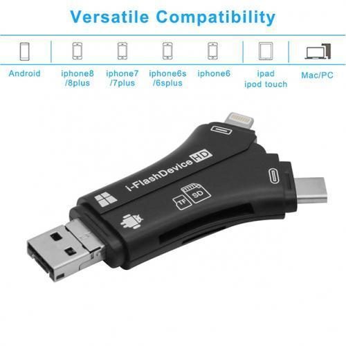 4-in-1 SD Memory Card Reader and Adapter
