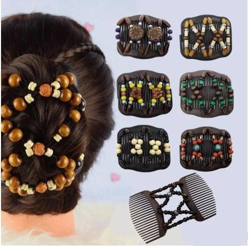 2Pcs Magic Stretch Hair Comb-stay right where you put them ALL DAY LONG