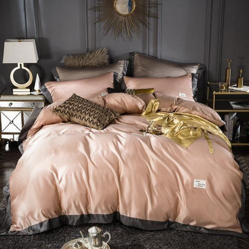 Solid Color Washed Silk Bedding Sets